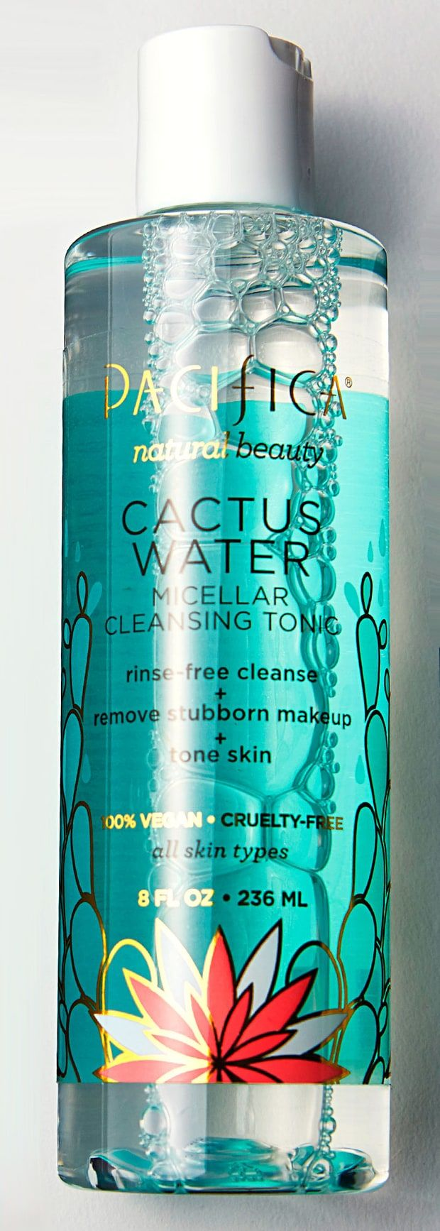 Pacifica Cactus Water Micellar Cleansing Tonic- this was okay. It cleaned well, but smells vaguely of plastic... I prefer the Simple brand to this one.