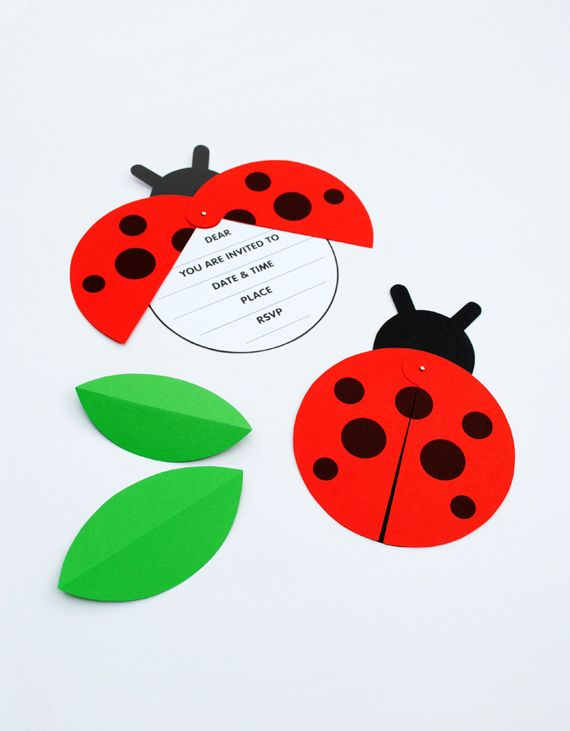 DIY Ladybird Party Invite