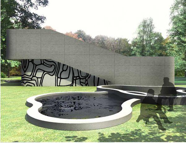 Exposition pavilion inspired by Dubuffet   Aldona Banasiuk