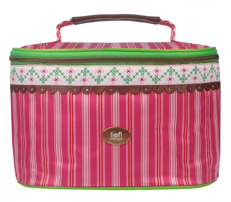 LIEF! Doily Beautycase / Toilettas pink