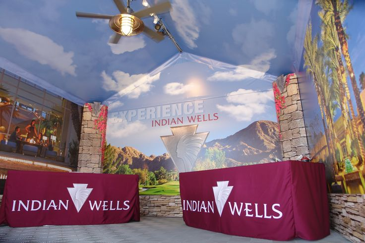 Event display for the city of Indian Wells, CA by DesertWraps.com. 760-935-3600. We service Palm Springs, Cathedral City, Rancho Mirage, Palm Desert, La Quinta, Indian Wells, Indio, etc.