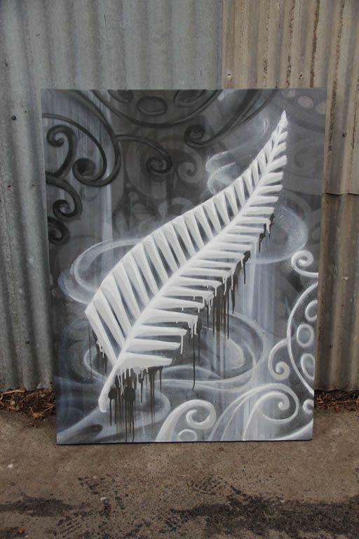 All Blacks Canvas 2013 #graffiti #canvas by #dubiz #allbacks #newzealand #rugby #football #teamlogo #logo #art #fineart