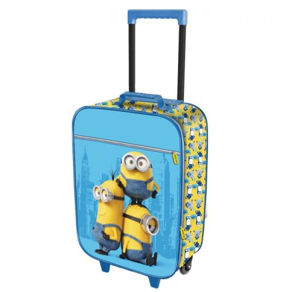 Valigia Bagaglio a Mano I Minions Trolley Morbido Cattivissimo Me - TocTocShop.com - Fantastico per i Bambini, Imbattibile nei Prezzi