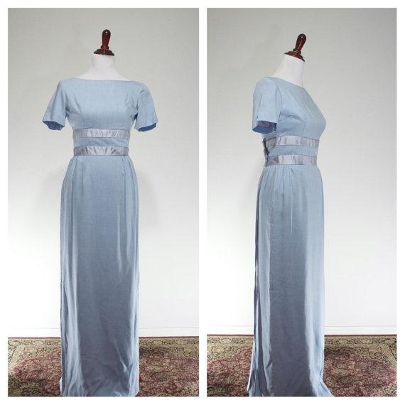 Emma domb blue dress