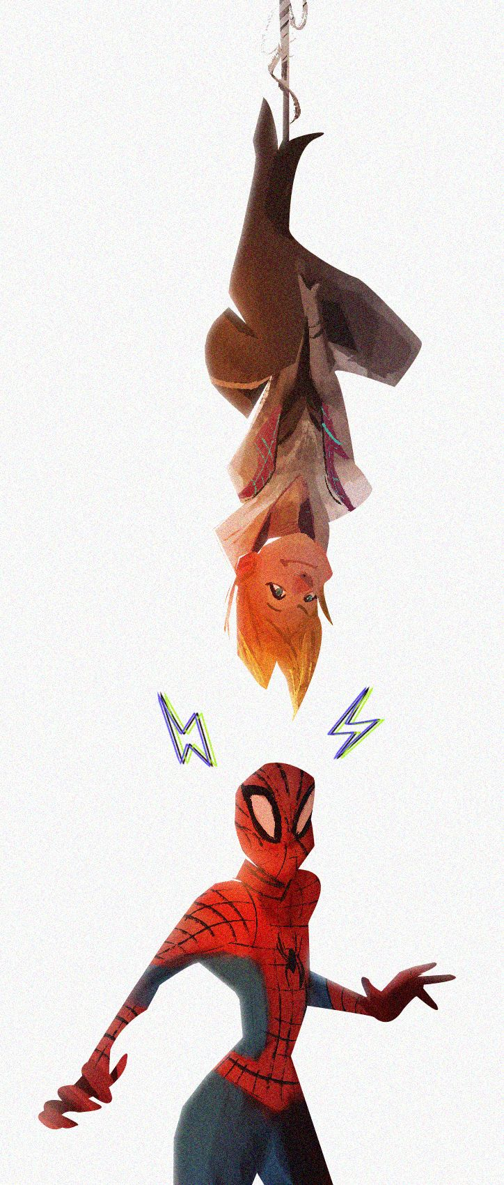 SpiderGwen, does whatever a SpiderGwen does