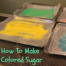 How To Make Colored Sugar - easy and inexpensive cookie sugar step by step instructions! http://www.annsentitledlife.com/recipes/how-to-make-colored-sugar/