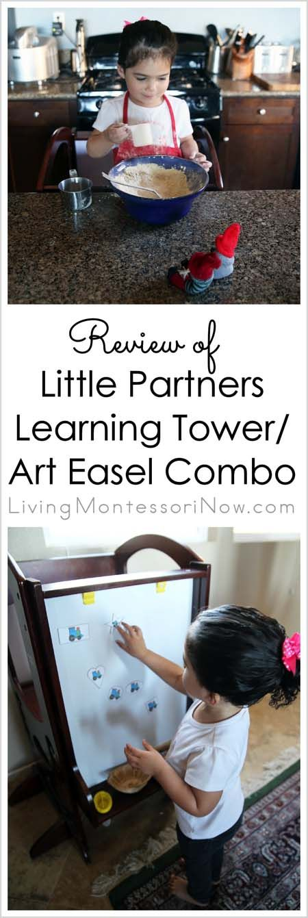 Review of Learning Tower / Art Easel Combo from Little Partners + Special Deal