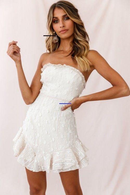 Cece Embellished Bandeau Dress Beige - # ...