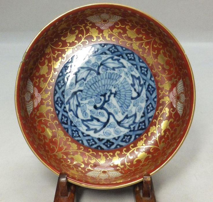 Japanese Antique Rare Daishoji-Imari Porcelain plate in Kinrande Style with Kintsugi & 235 best Imari images on Pinterest | Porcelain China and Bowls