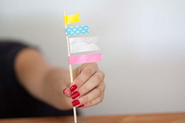 Como hacer un topper de banderines.