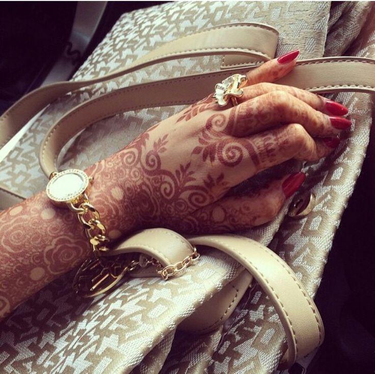 // henna and handbags.