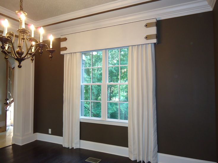 Custom Cornice Board With Contrast Piping Tab And Button