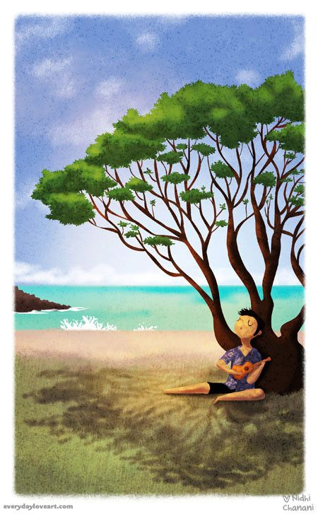 Everyday Love | Art of Nidhi Chanani | Ukulele Song Prints Illustrations