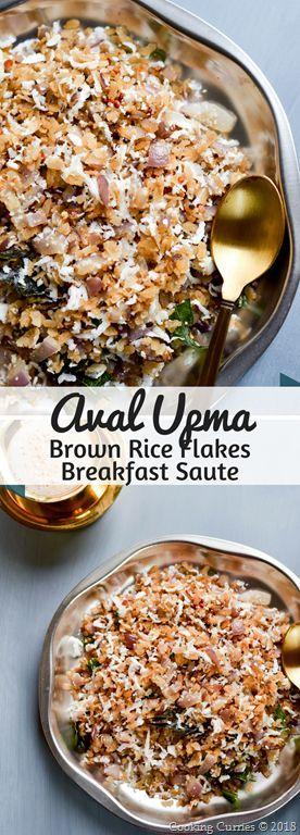 Aval Upma - Brown Rice Flakes Breakfast Saute  #IndianFood #Breakfast #healthy