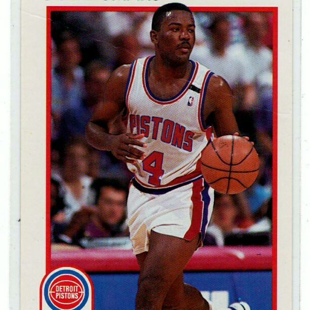 Joe Dumars NBA Player - 2 Card Lot .. All cards in mint condition and stored properly ..    The pic images are scan image not stock photo .. The scan images will show any damage to sports cards .