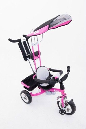 Pink 4in1 Smart Tricycle Trike 3Wheels Children Girls Bike Safety Parent Handle  #KiddoByRayGar #SmartDesign