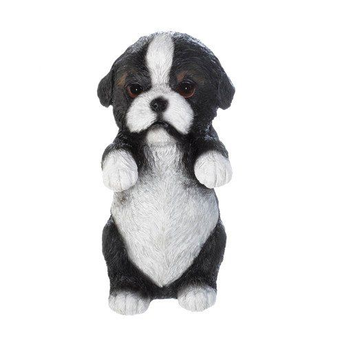 "Climbing Cutie Border Collie Puppy: This curious puppy wants to hang around with you! He's a charming addition to the edge of your favorite potted plant, garden wall, or anywhere else that could use a dose of cuteness. 3-3/8"" x 3"" x 6-1/8"" high. Polyresin. #bordercollie #dogdecor #dogs"