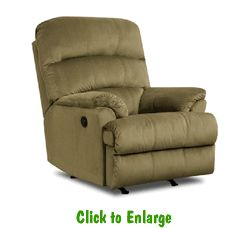 2 Hampton Army Rocker Recliners By Simmons At Furniture Warehouse | The  $399 Sofa Store |