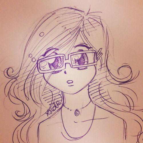 Un sacco di tempo che non disegnavo stile #manga ! 😊 #disegno #drawing #drawings #draw #schizzo #scarabocchio #sketch #girl #ragazza #disegni #penna #pen #occhiali #occhi #bigeyes