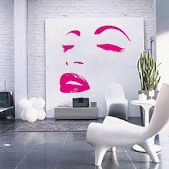 modern face wall decal bedroom and bathroom interior murals stickers self adhesive removable decals modern bedroom wall decal decor a95