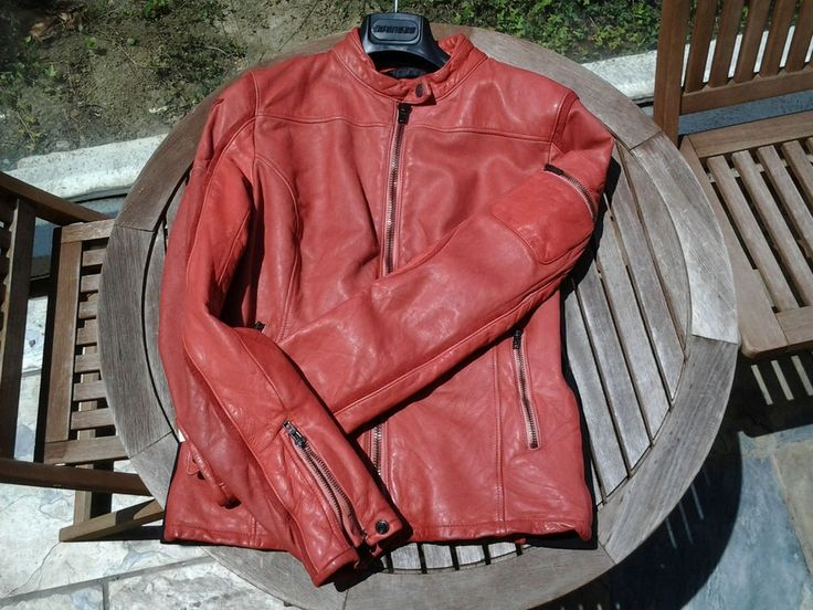 Dainese Retro Leather Womens Motorcycle Jacket Red