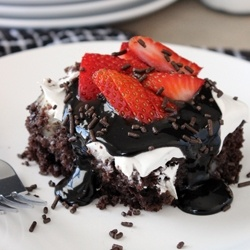 Hot Fudge Poke Cake recipe