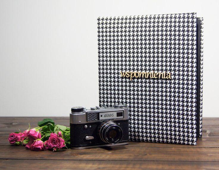 ALBUM WSPOMNIENIA W PEPITKĘ 25X30 40 STRON - Plans-And-Memories - Albumy na zdjęcia wklejane