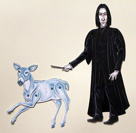 Severus Snape & Patronus Articulated Paper Doll by ArdentlyCrafted, $17.00