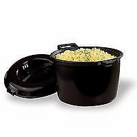 Cooking brown rice in the Pampered Chef microwave rice cooker