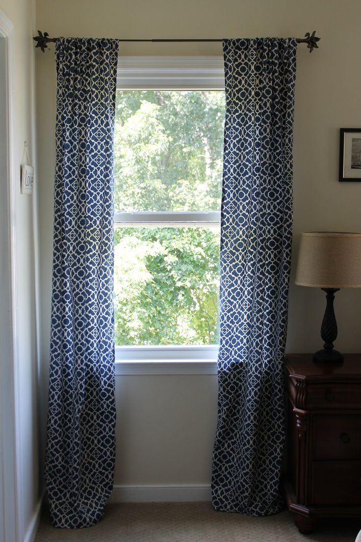 Modern 36 quot 40 quot blinds shades allmodern - Blue And White Curtains