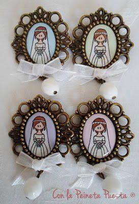 UN DETALLE ORIGINAL, UN BROCHE DE NOVIA.  http://www.conlapeinetapuesta.es/2012/12/un-detalle-original-un-broche-de-novia.html