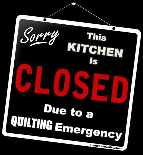 Sorry This Kitchen is CLOSED due to a QUILTING Emergency LIKE us at: https://www.facebook.com/SunnysideQuilts OR Shop at our Store: http://stores.ebay.com/sunnysidequilts