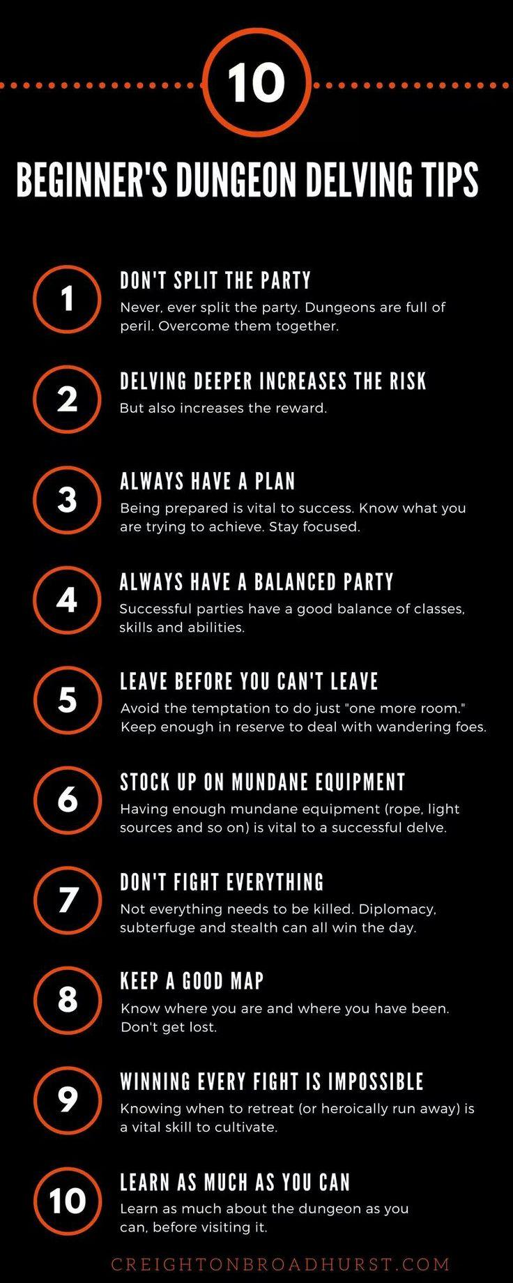 Beginner's Tips, D&D.