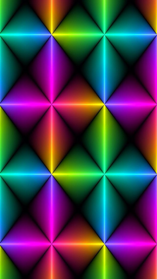 Neon spectrum wallpaper