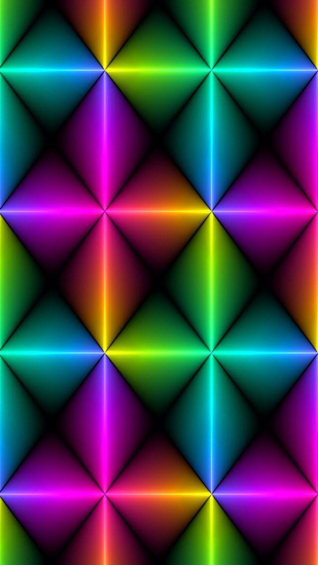 Neon wallpaper Cool backgrounds Pinterest