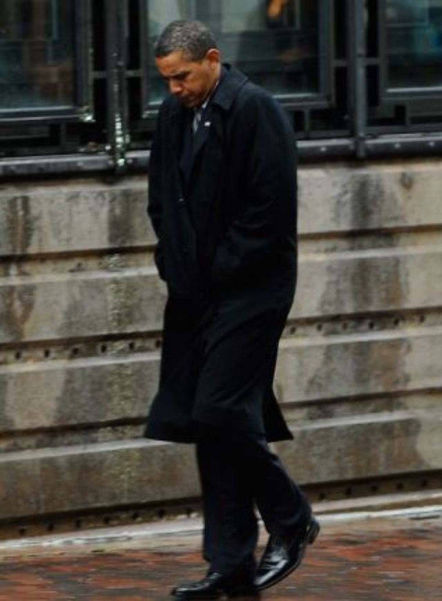 44th President BarackObama walked along Dartmouth St. in Boston in the rain after meeting with Victoria Kennedy, the widow of Senator Edward Kennedy prior to his funeral August 2009 #Obama44 #ObamaLegacy #ObamaHistory #ObamaLibrary #ObamaFoundation Obama.org