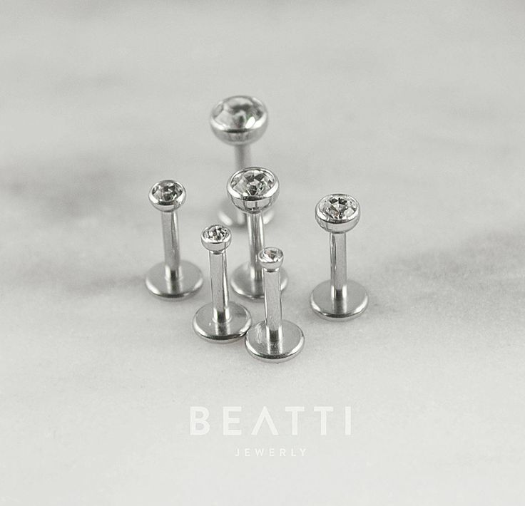 Special Sale!  [Set of 6] Teeny Tiny 18g Labret Studs/ Cartilage Earrings/Tragus Earring/Labret/Flat Back/Helix/Tragus stud/Internal thread by Beatti on Etsy https://www.etsy.com/ca/listing/538299009/special-sale-set-of-6-teeny-tiny-18g