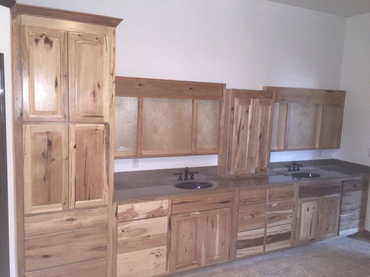 Hickory cabinets with onyx top
