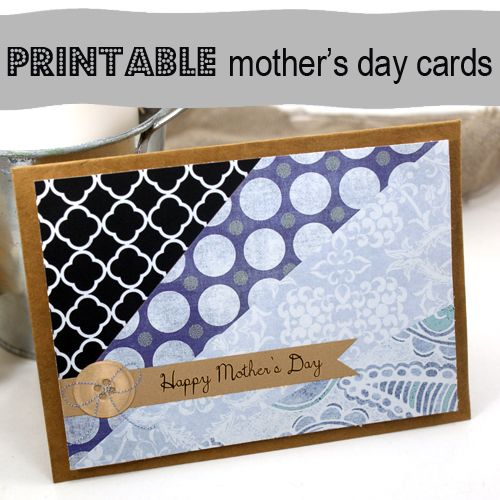 cute!: Crafts Ideas, Printable Cards, Happy Mothers, Cards Scrapbook, Birthday Cards, Scrap Cards Mothers Day, Free Printable, Mothers Day Cards, Printable Mothers