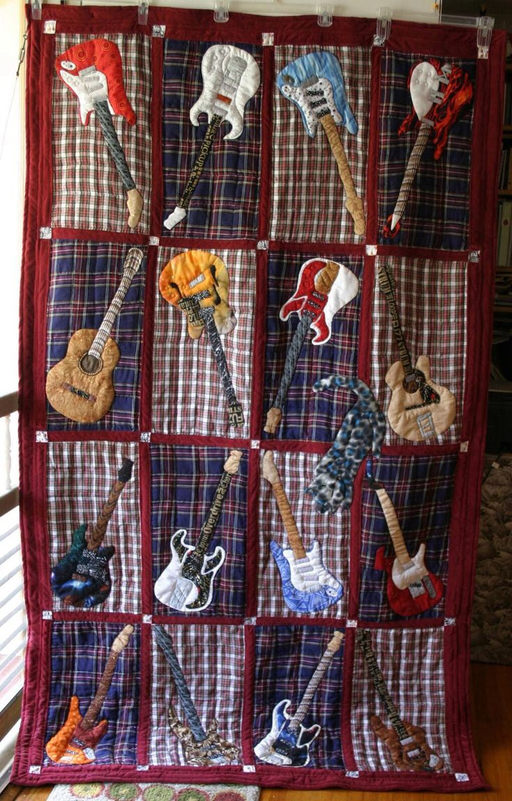 Guitars | Music quilt ideas | Pinterest | Guitar