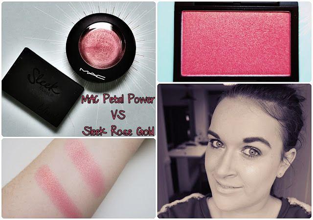 Vero does this : Julie   MAC Petal Power Blush VS. Sleek Rose Gold ...