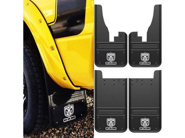 Buy Truck Hardware Part# GB1223C09RV-FULL~GB1223RV-FULL.  Low Prices & Free Shipping On 2009-2016 Dodge Ram Logo With Black Wrap Gatorback Mud Flap Set