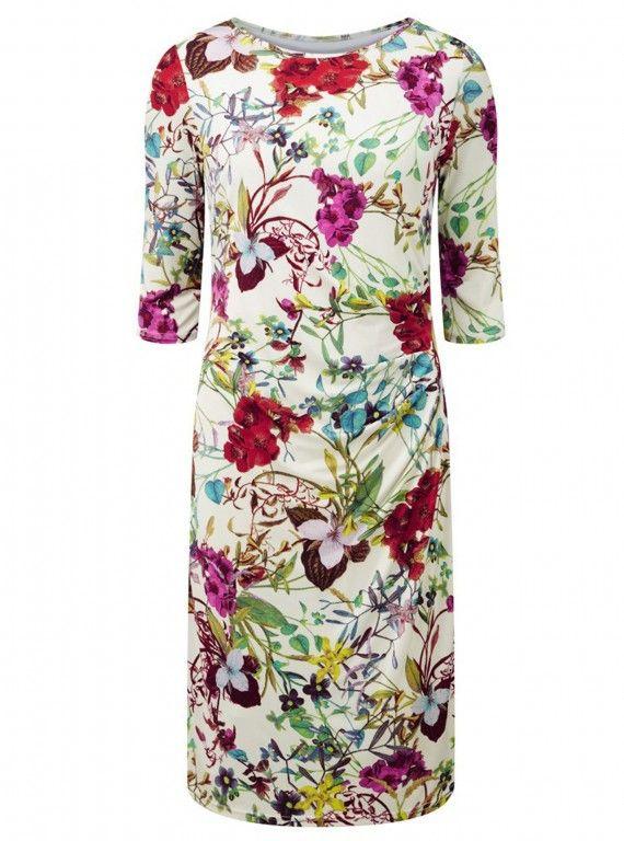 Lavitta Magenta Botanical Wrap Dress, £35