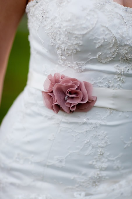 If you have chosen a simple wedding gown you can add a finishing touch with the addition of a statement belt, sash or cummerbund. #wedding #dress #belt