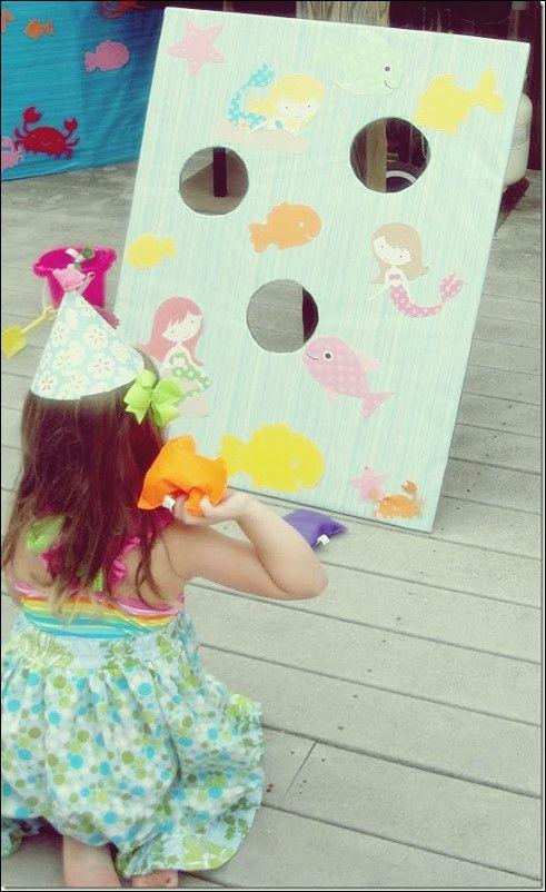 Entzückende Meerjungfrau-Themenhandwerk für Ihre kleine Meerjungfrau
