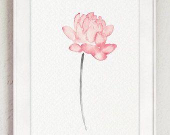 Arreglo Floral Shabby Chic decoración lámina de regalo. Decoración de la habitación infantil de bebé chica Pink Peony. Decoración de la pared del salón rústico. Acuarela de los niños.  Tipo de papel: Impresiones hasta (42 x 29, 7cm) 11 x 16 pulgadas tamaño se imprimen en el archivo ácido libre 270g/m2 papel acuarela blanco y conserva el aspecto de la pintura original. Más grandes impresiones se imprimen en 200g/m2 papel de cartel blanco semibrillante.  Colores: Imprime el archivo al...