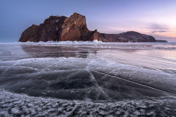 Cape Khoboy of Olkhon Island Lake Baikal Russia [OC] [2048x1366]