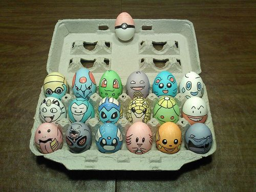 pokemon Easter eggs!  I must make these next year for my little one.