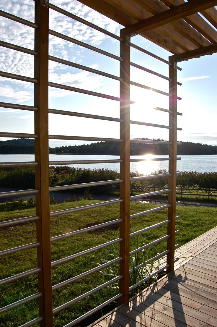 Custom trellis to match pergola landscapes by earth design - Cool Pergola Idea From Denmark