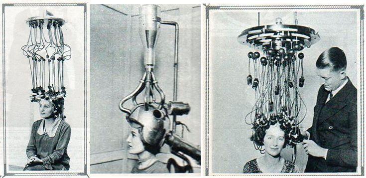 Dark Roasted Blend: Sleek Vintage Salon Hair Dryers | mages source: The Illustrated London News, 20 October 192 |